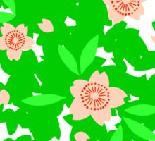 Cherry Blossom - Forest Green Sticker