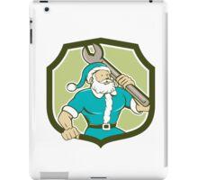 Santa Claus Mechanic Spanner Shield Cartoon iPad Case/Skin