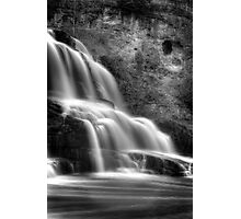 Gooseberry Falls in mono Photographic Print