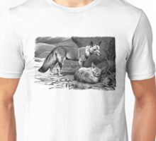 Illustration of two foxes Unisex T-Shirt
