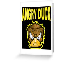 Angry Duck Greeting Card