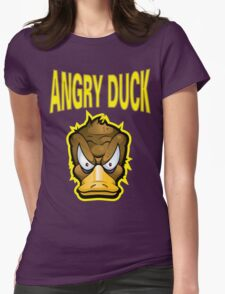 Angry Duck Womens Fitted T-Shirt