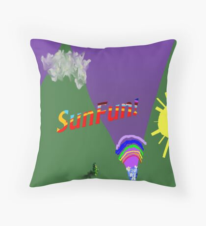 Silly Landscape Throw Pillow