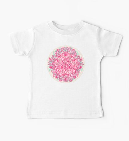 Spring Arrangement - floral doodle in pink & mint Baby Tee