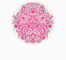 Spring Arrangement - floral doodle in pink & mint T-Shirt