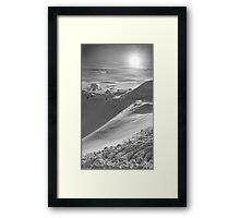 Snowy Peak Framed Print