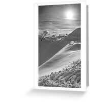 Snowy Peak Greeting Card