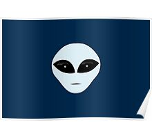Serious Alien Smiley Poster