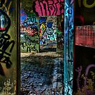 Tram Shed Doors 1 by Ian English