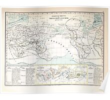 Atlas zu Alex V Humbolt's Cosmos 1851 0171 Habitats of the World Poster