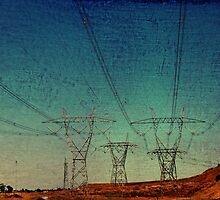Road Trip - beautiful powerlines spotted on the way back from Woodend. by Shannon McDonald