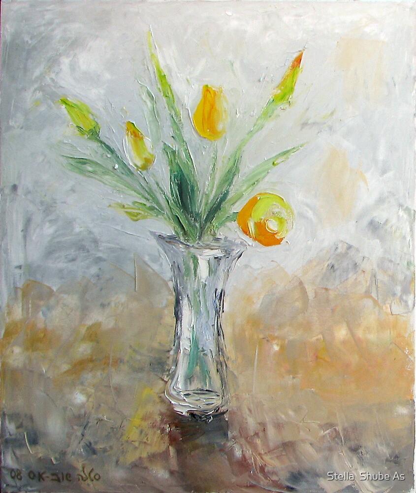 Yellow tulips by Stella  Shube As