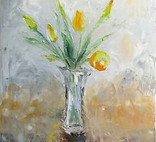 Yellow tulips by Stella  Shube As