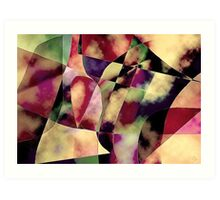 A Puzzled View. Art Print