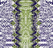 Abstract purple and green pattern by RosiLorz