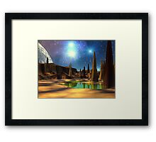 Spike Pond Framed Print