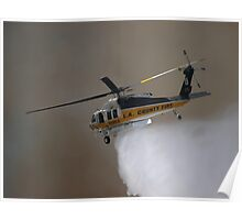 LA Co FD Copter 19 at Griffith Park Aug 16, 2008 Poster