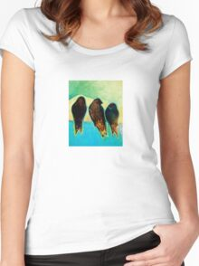 Birds at Sunrise Women's Fitted Scoop T-Shirt