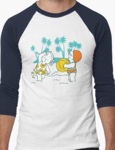 Girls at the Beach Men's Baseball ¾ T-Shirt