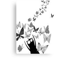 Newspaper Butterflies Canvas Print