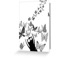 Newspaper Butterflies Greeting Card