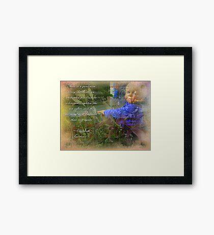 Childs Garden Framed Print
