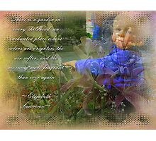 Childs Garden Photographic Print
