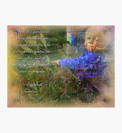 Childs Garden Photographic Print
