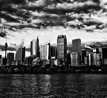 City in black & white by David Petranker