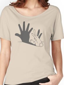 rabbit hand shadow funny Women's Relaxed Fit T-Shirt