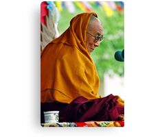 HH Dalai Lama. pin valley, northern india Canvas Print