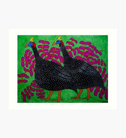 Guineas Green Art Print
