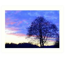 Sunset in Blue & Pink featured in 4 groups (see below for details) Art Print