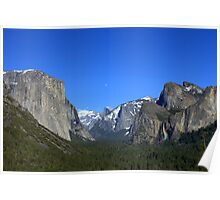 Yosemite Valley-Moon over Half Dome Poster