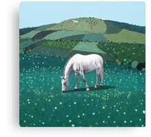 The White Horse of Alfriston Canvas Print