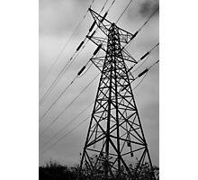 a black and white pylon Photographic Print