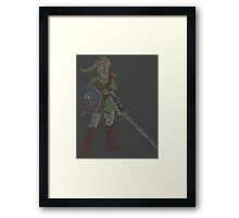 8-Bit Hero - Link Framed Print