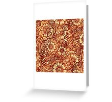 Ethnic henna style pattern Greeting Card