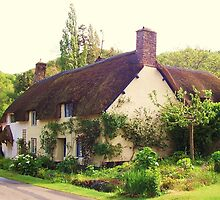 thatched cottage, dunster village, uk by MichelleRees