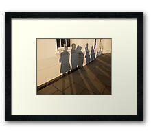 Causing Shadows Framed Print