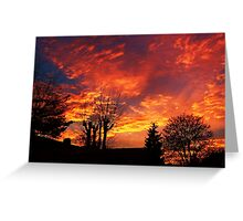 Urban Winter Sunset - Chelmsford, UK Greeting Card