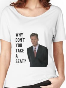Chris Hansen Why don't you take a seat Women's Relaxed Fit T-Shirt