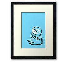 Blue Sloth Framed Print