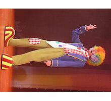 A Clown Performing in a Cruise Ship Nightclub. Photographic Print