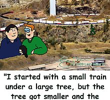 Model Railroad - Started small... by Larry Miller III