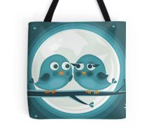 birds against the moon Tote Bag
