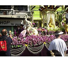 Flower Float in Festival at Chiang Mai. Photographic Print