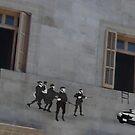 stencil police hunting by Grigoris Kalivas