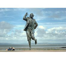 A Lancashire Lad by the Seaside Photographic Print