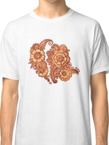 Ethnic henna pattern in Indian style Classic T-Shirt